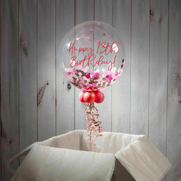 13th Birthday Personalised Confetti Bubble Balloon