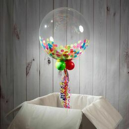 Welcome Home Personalised Confetti Bubble Balloon