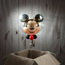 'We're Going To Disneyland' Reveal Mickey Mouse Bubble Balloon