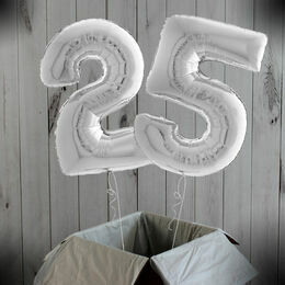 "26"" Silver Number Foil Balloons (0 - 9)"