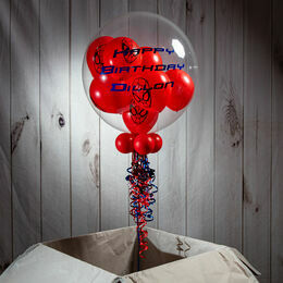 Personalised Spiderman Multi Fill Bubble Balloon