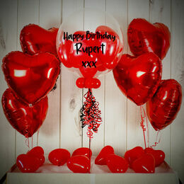 Red Hearts Balloon Package