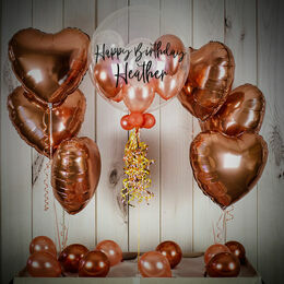 Rose Gold Hearts Balloon Package