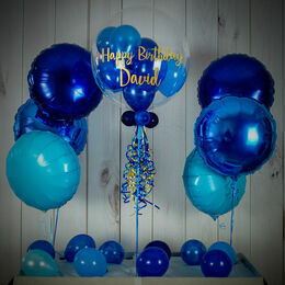Shades Of Dark Blue Balloon Package