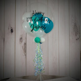 Personalised Mint Dream Balloon-Filled Bubble Balloon