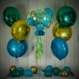 Tropical Teal Balloon Package