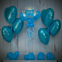 Blue Hearts Balloon Package