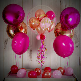 Pink Glamour Balloon Package