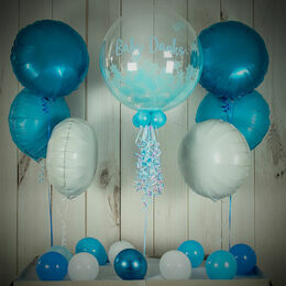 Blue Stars Confetti Balloon Package