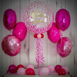 Pink Confetti Print Balloon Package