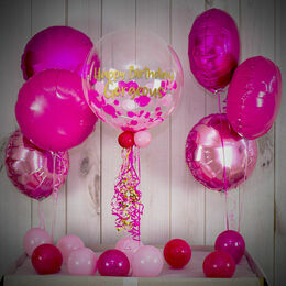 Shades Of Pink Confetti Balloon Package