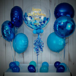 Shades Of Blue Confetti Balloon Package