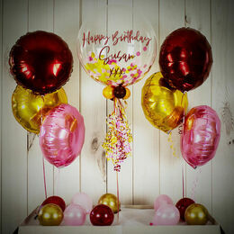 Berry Sparkle Confetti Balloon Package