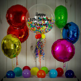 Rainbow Confetti Balloon Package