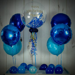 Royal Blue Powderfetti Balloon Package