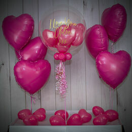 Pink Hearts Balloon Package