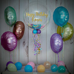 Pastel Feathers Balloon Package