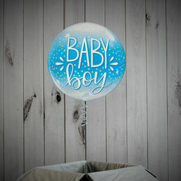 Baby Boy Printed Bubble Balloon