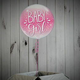 Baby Girl Printed Bubble Balloon