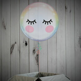 Cute Eyelashes Printed Bubble Balloon