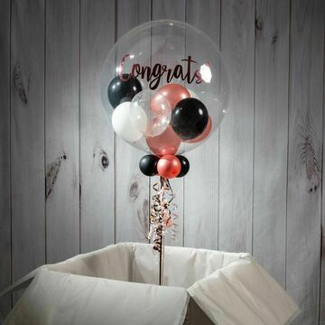 On Your Engagement Personalised Multi Fill Bubble Balloon