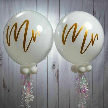 Mr & Mr Wedding Day Bubble Balloon Package