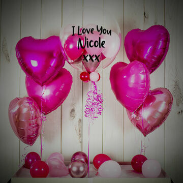 Shades of Pink Hearts Balloon Package