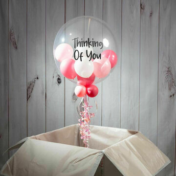 \'Thinking Of You\' Personalised Multi Fill Bubble Balloon