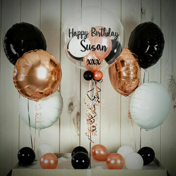 Rose Gold Glamour Balloon Package