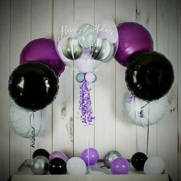Lilac Swirl Balloon Package