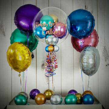 Satin Chrome Balloon Package