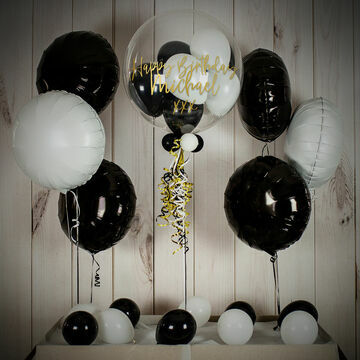 White & Black Balloon Package