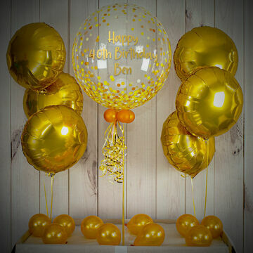 Gold Confetti Print Balloon Package