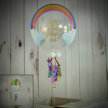 Personalised Rainbow Print Bubble Balloon