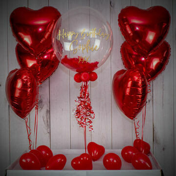 Red Feathers Balloon Package