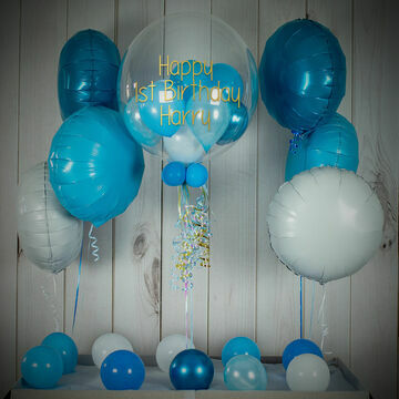 Shades Of Light Blue Balloon Package