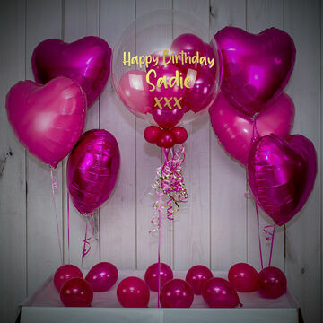 Dark Pink Balloon Package