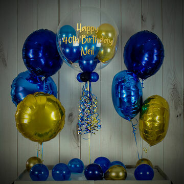 Dark Blue & Gold Balloon Package