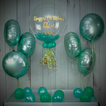 Mint Green Feathers Balloon Package