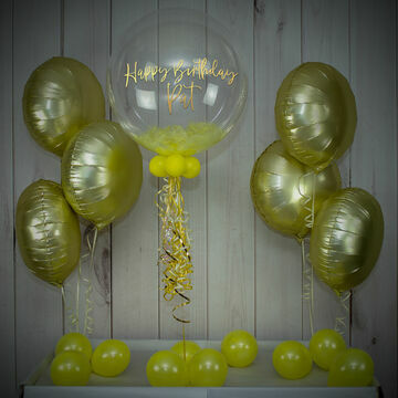 Yellow Feathers Balloon Package