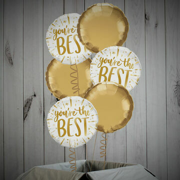 \'You\'re The Best\' Gold Foil Balloon Package