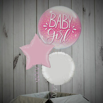 Baby Girl Printed Bubble Balloon Package