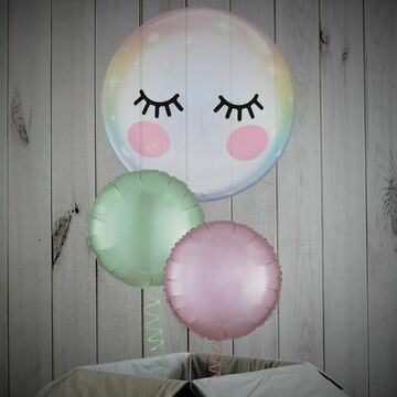 Cute Eyelashes Printed Bubble Balloon Package