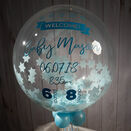 \'Welcome Baby Boy\' Personalised Blue Star Confetti Balloon additional 2