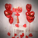 Red Hearts Balloon Package additional 4