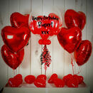 Red Hearts Balloon Package additional 1