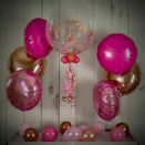 Rose Gold & Pink Confetti Balloon Package additional 1
