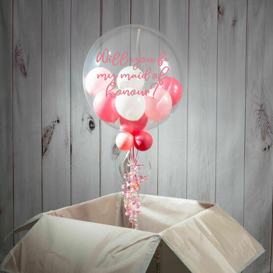 Will You Be My Maid Of Honour? Personalised Bubble Balloon