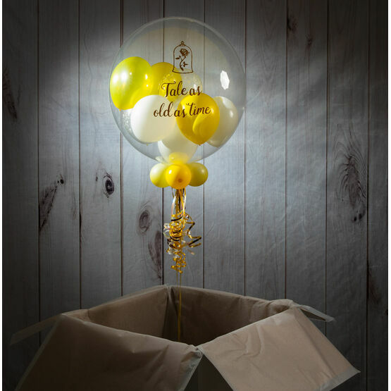 Personalised Belle Balloon-Filled Bubble Balloon