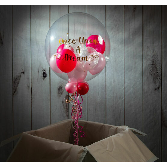 Personalised Sleeping Beauty Balloon-Filled Bubble Balloon